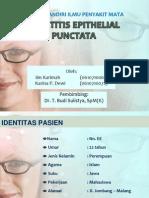 Keratitis Epithelial Punctata