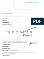The RECOVER Project - From the Ground Up - How to Build Your Own Peer-To-peer Recovery Centre