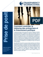 Corporate Lobbying Financement Politique