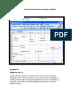 Descripcion Del Entorno de La Ventana de Excel