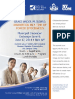 GRACE UNDER PRESSURE: INNOVATION IN A TIME OF FORCED EFFICIENCIES; Municipal Innovation Exchange Summit