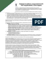 SI 1207 - Irregularidades y Actos Ilegales