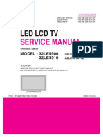 ServiceManuals LG TV LCD 32LE5510 32LE5510 Service Manual