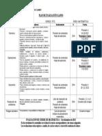 5TO GRADO - Plan de Evaluacion Matematica I Lapso 2013-2014