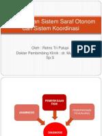 Pemeriksaan Sistem Saraf Otonom Dan Sistem Koordinasi