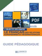 Objectif Diplomatie, Guide Pédagogique