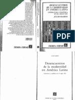 Ramos - Desencuentros de La Modernidad en América Latina - Literatura y Política en El XIX