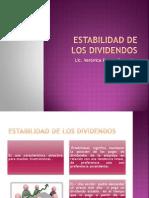 Estabilidad de Los Dividendos