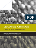 Attwood & Pedler & Pritchard & Wilkinson (2003). Leading Change. a Guide to Whole Systems Working