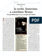 """""""Io dirò la verità"""". Intervista a Giordano Bruno"""