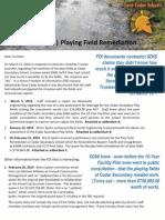 Cedar Secondary Play Fields - Remediation Reality
