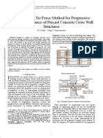 An Improved Tie Force Method for Progressive Collapse Resistance of Precast Concrete Cross Wall Structures