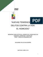 El Homicidio en Chile