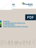 Manual Elaboración Proyectos Comunitarios
