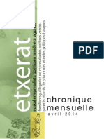 Chronique - Avril 2014