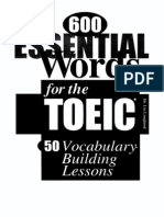 600 Essenilal Words for Toeic