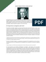 El Imperativo Categórico de Kant y El Superyó de Freud