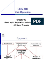4.1 Gas Liquid Separation - Mass Transfer