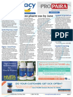 Pharmacy Daily for Wed 21 May 2014 - 10,000 pharm vax by June, Flu vax supply for tender, NMS begins, Health, Beauty and New Products and much more