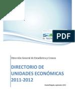 Directorio de Unidades Economicas 2011-2012