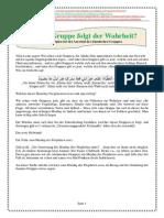 Die Prinzipien Bei Der Auswahl Der Islamischen Gruppen