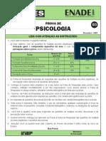 PSICOLOGIA Enade 2009