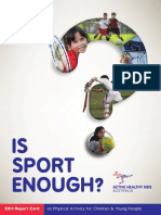 Is Sport Enough?