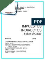 Impuestos Indirectos Sobre El Gasto 2013