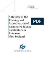 A Review of the Training and Accreditation of Restorative Justice Facilitators in Aotearoa New Zealand