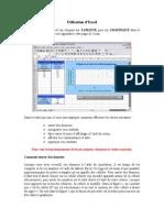 Utilisation Excel