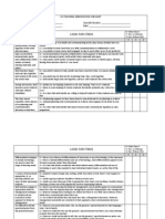 co-teaching observation checklist