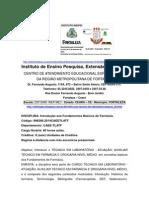 DISCIPLINA Introdução Aos Fundamentos Básicos de Farmácia.