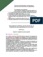 Reglamento de Afiliación Anotaciones y Modificaciones de César Escobar
