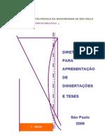 Diretrizes Para Apresentação de Dissertações ETeses POLI - USP 3ra Edição 2006 (3)