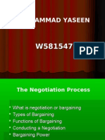 The Negotiations Process