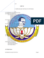 Mathematics and Statistics (Unit IV & v)