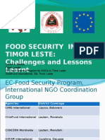 Food Security in Timor-Lese