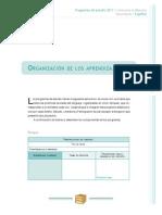 Español-Organizacion de Los Aprendizajes