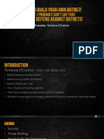 How to build botnets and defend against them.