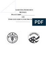 Peace Corps Implementing Instrument UN Food and Agriculture Organization FAO  UN FAO Peace Corps Implementing Instrument