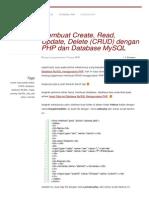 Blogahmaddwi Wordpress Com 2013-10-09 Membuat Create Read Update Delete Crud Dengan Php Dan Database Mysql