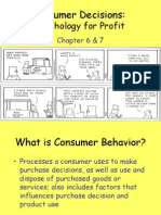 Consumer and Business Behavior Ch. 6&7