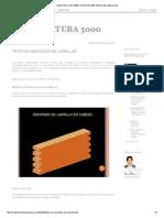 Arquitectura 3000_ Tipos de Asentados de Ladrillos