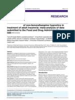 Effectiveness of Non-benzodiazepine Hypnotics In