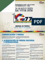 Manual Prensa Cumbre G77