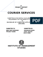 Courier Service-A Project Report