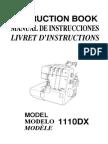 Janome 1110dx Manual de Uso