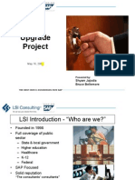 SAP Upgrade Procedure