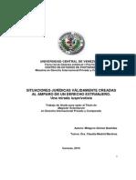 Tesis Sobre Sistema Venezolano de Derecho Internacional Privado