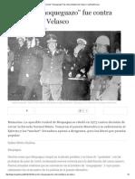 El Primer _moqueguazo_ Fue Contra Dictadura de Velasco _ LaRepublica
